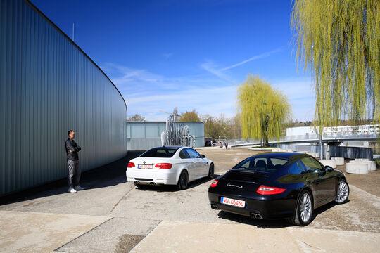 BMW M3, Porsche 911 Carrera S, Heckansicht
