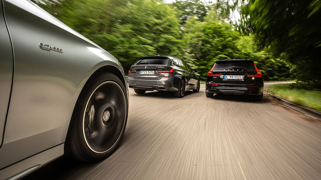 BMW M340i Touring xDrive, Mercedes-AMG C 43 T 4Matic, Volvo V60 T8 Polestar Engineered, Exterieur