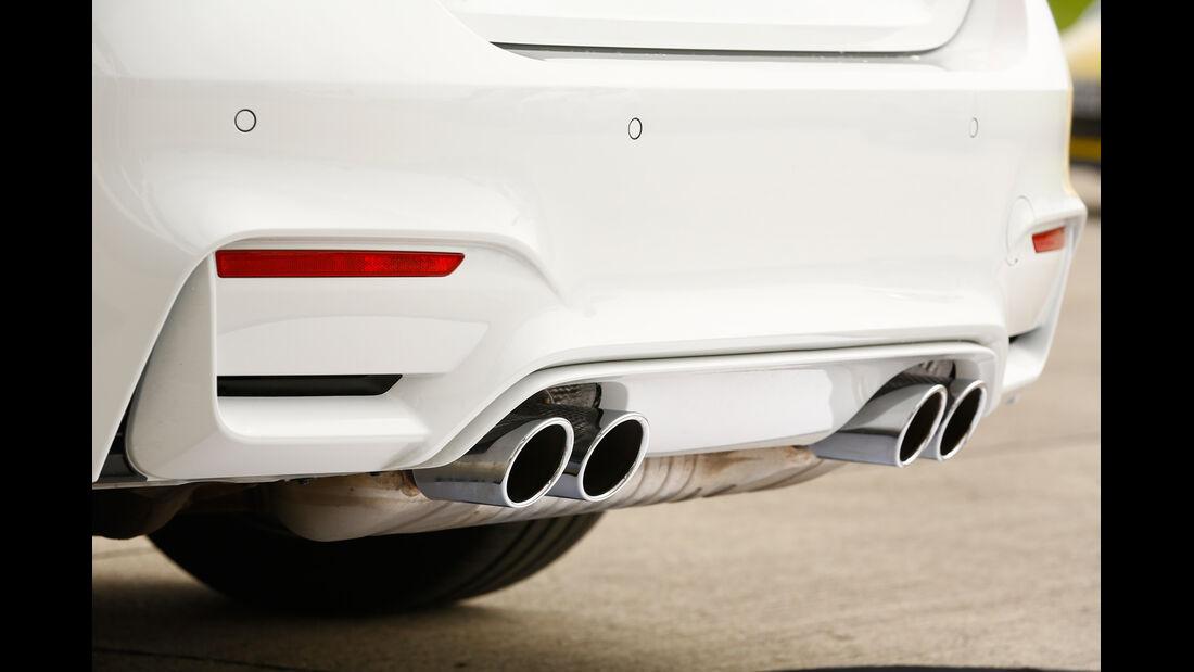 BMW M4, Auspuff, Endrohre