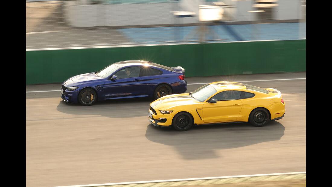 BMW M4 CS, Mustang Shelby GT350, Seitenansicht
