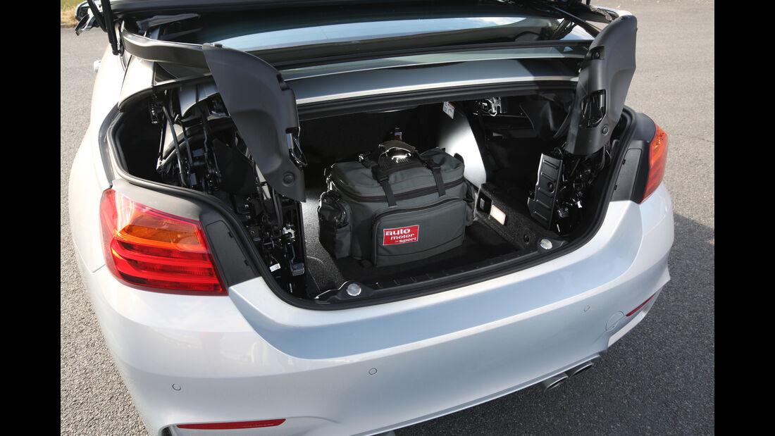 BMW M4 Cabrio, Kofferraum