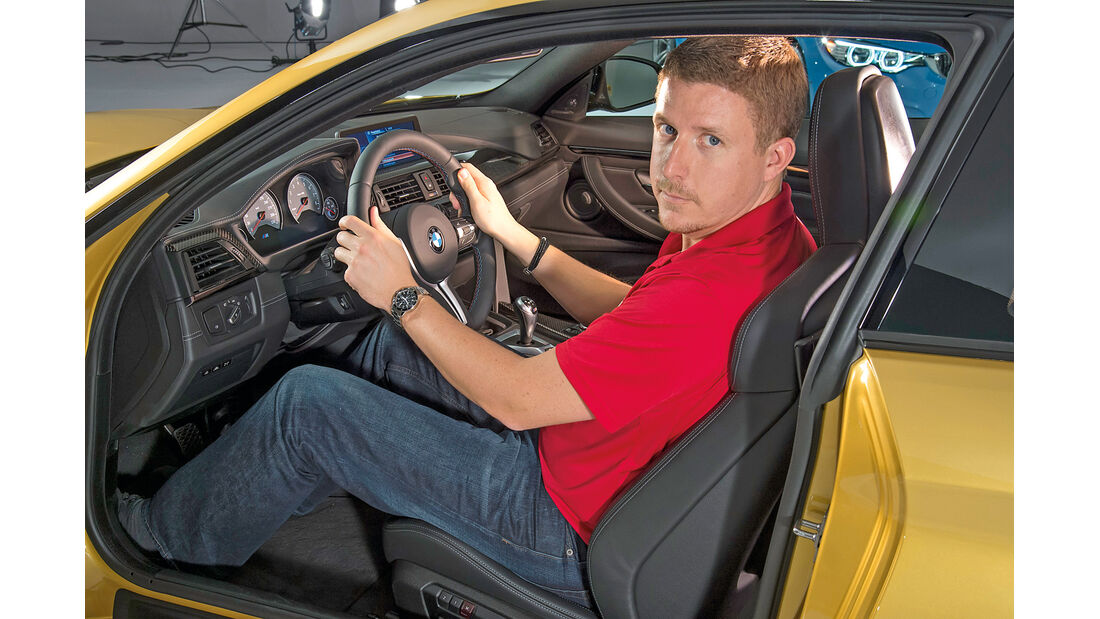 BMW M4, Cockpit, Sitzprobe