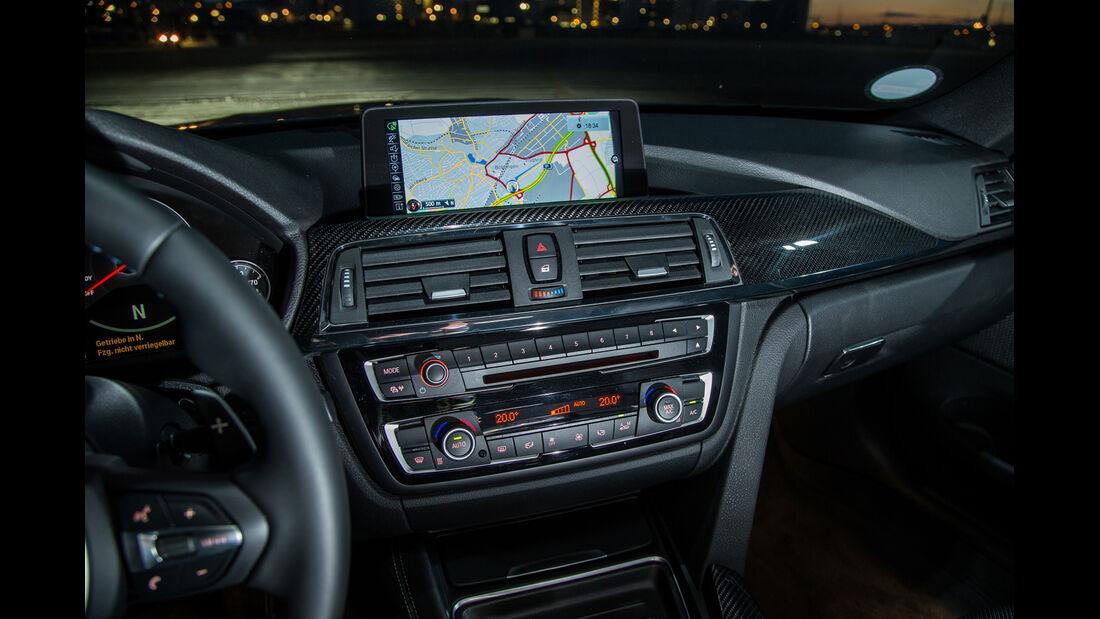 BMW M4 Coupé, Navi, Mittelkonsole