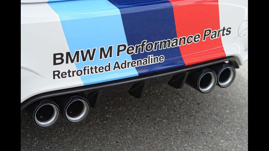 BMW M4 Coupé Safety Car, Auspuff, Endrohre
