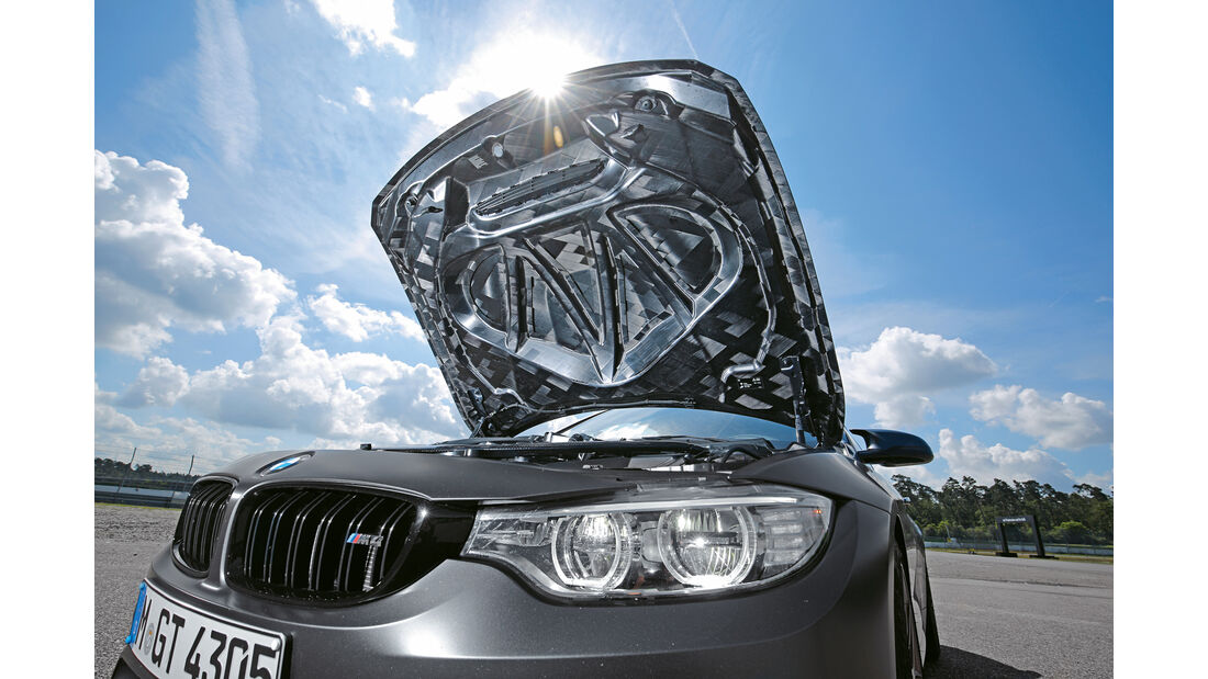 BMW M4 GTS, Motorhaube