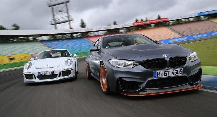 BMW M4 GTS, Porsche 911 GT3, Frontansicht