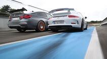 BMW M4 GTS, Porsche 911 GT3, Heckansicht