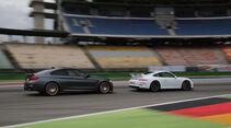 BMW M4 GTS, Porsche 911 GT3, Seitenansicht