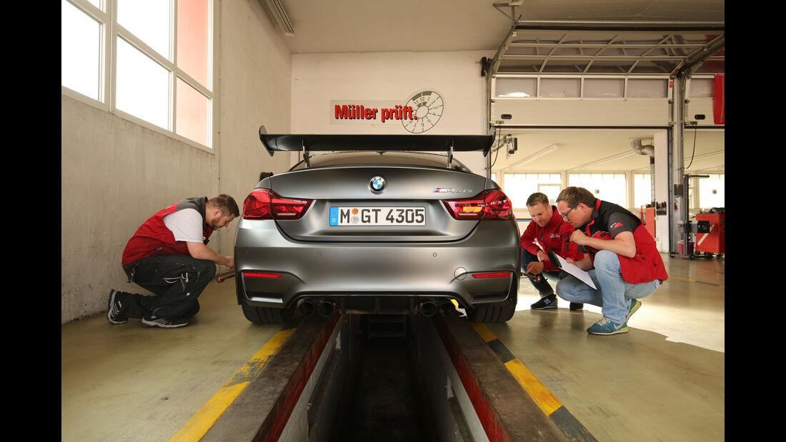 BMW M4 GTS, Prüfstand, Messung