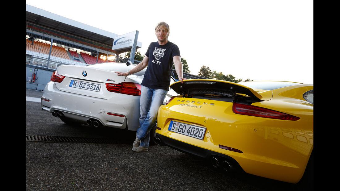 BMW M4, Porsche 911 Carrera S, Marcus Peters