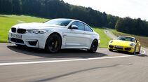 BMW M4, Porsche 911 Carrera S, Seitenansicht