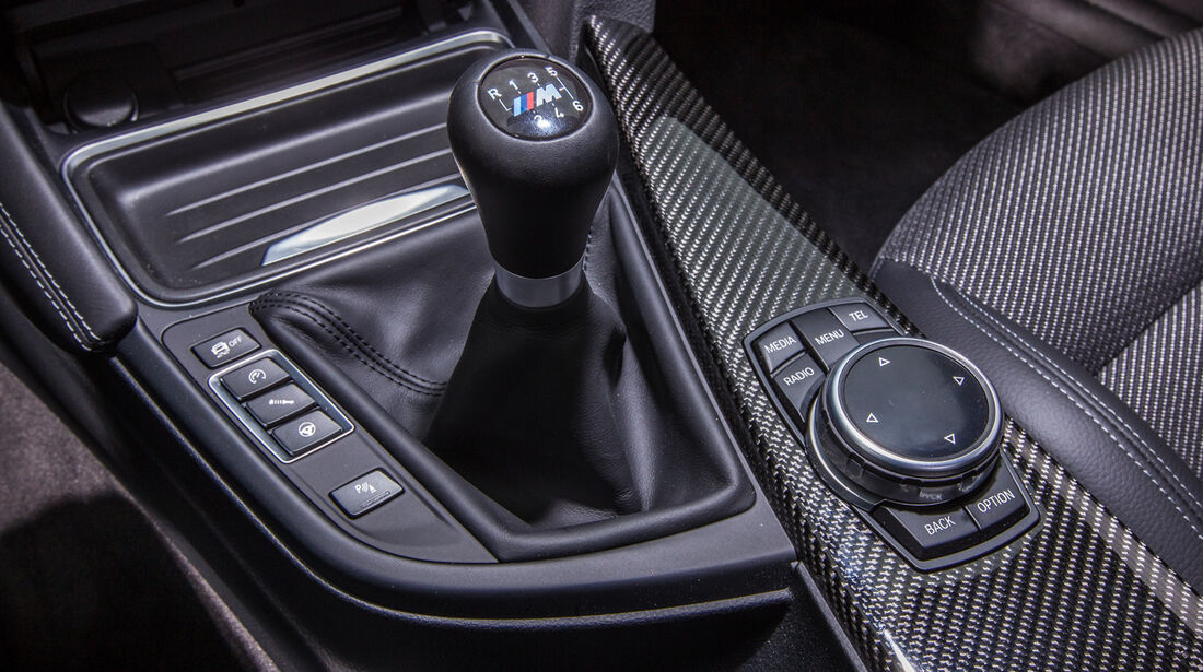 BMW M4, Schalthebel