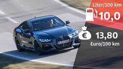 BMW M440i xDrive Coupé, Kosten und Realverbrauch
