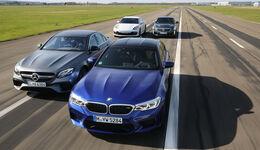 BMW M5 Cadillac CTS-V Mercedes-AMG E63 Porsche Panamera Turbo