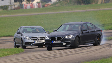 BMW M5 Competition, Mercedes-AMG E63 S, Frontansicht