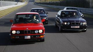 BMW M5 E28, BMW M5 E34, BMW M5 E39, BMW M5 E60