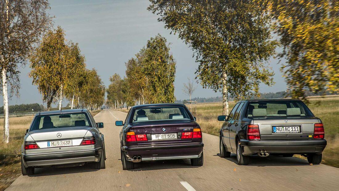 BMW M5 E34 Lancia Thema 8.32 Mercedes 500E