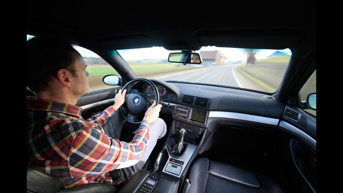 BMW M5 E39, Cockpit, Fahrersicht