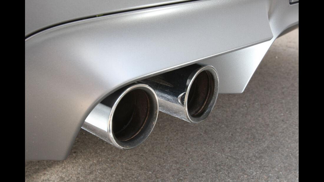 BMW M5, Endrohre, Auspuff
