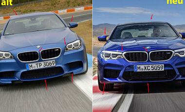 BMW M5 F10 (Competition Paket / 2013) - BMW M5 F90 - Vergleich