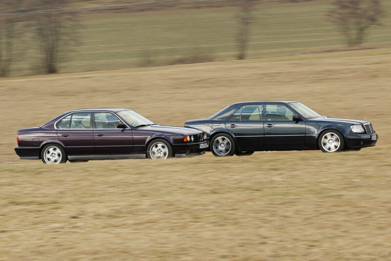 BMW M5, Mercedes-Benz E 500, Seitenansicht