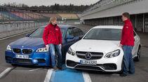 BMW M5, Mercedes E 63 AMG, Frontansicht