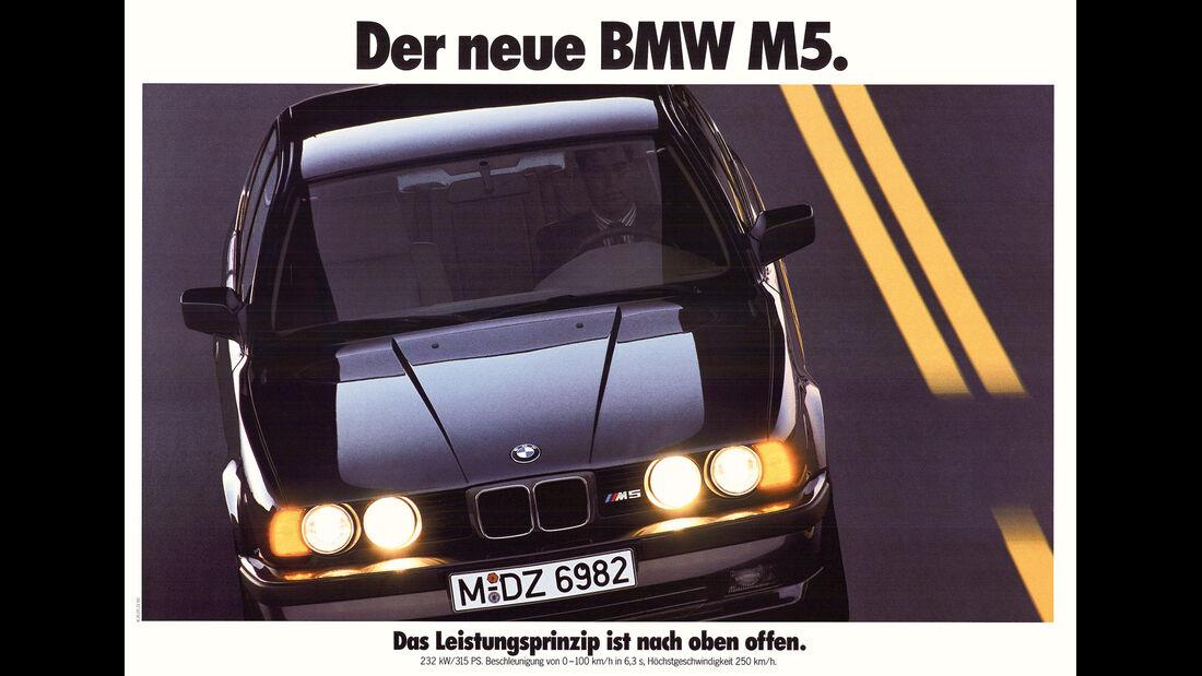 BMW M5, Werbeplakat
