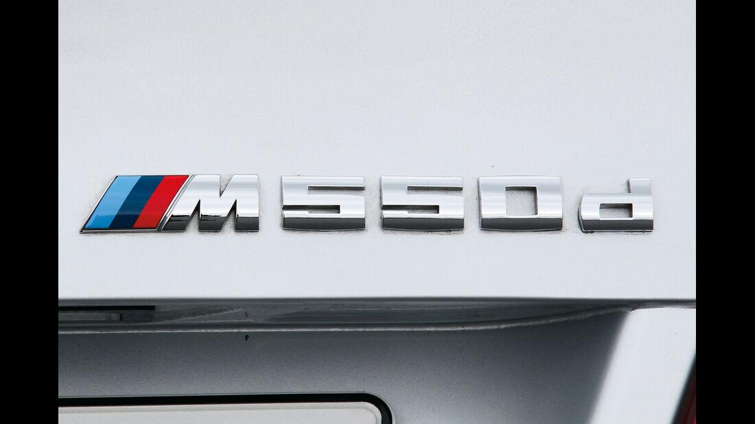 BMW M550d, Typenbezeichnung, Schriftzug