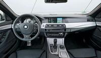 BMW M550d x-Drive, Cockpit, Lenkrad