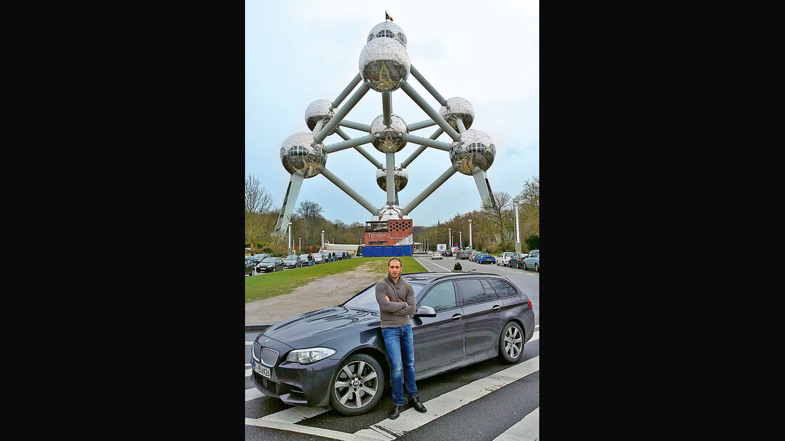 BMW M550d xDrive Touring, Brüssel