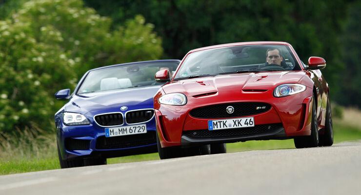 BMW M6 Cabrio, Jaguar XKR-S Cabrio, Frontansicht