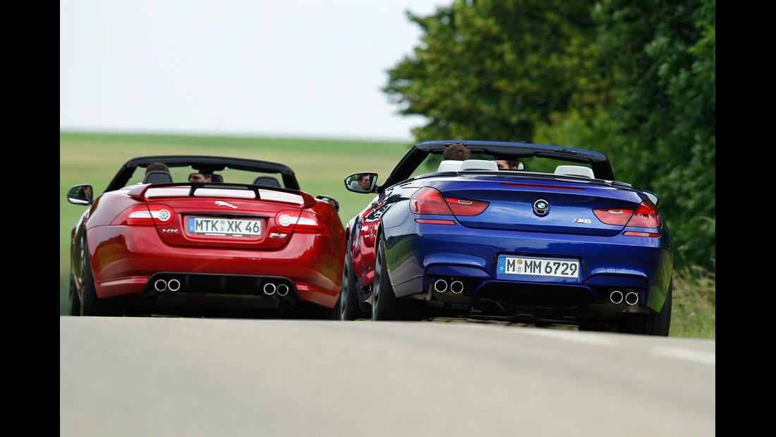 BMW M6 Cabrio, Jaguar XKR-S Cabrio, Heckansicht