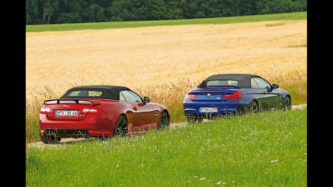BMW M6 Cabrio, Jaguar XKR-S Cabrio, geschlossen