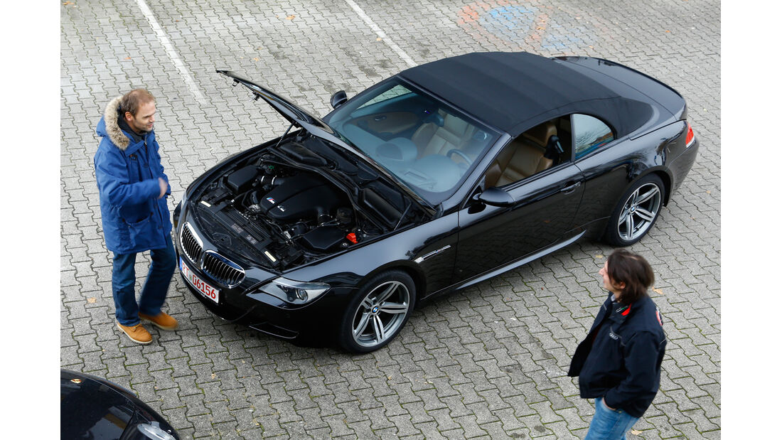 BMW M6 Cabrio, Motorhaube, Draufsicht