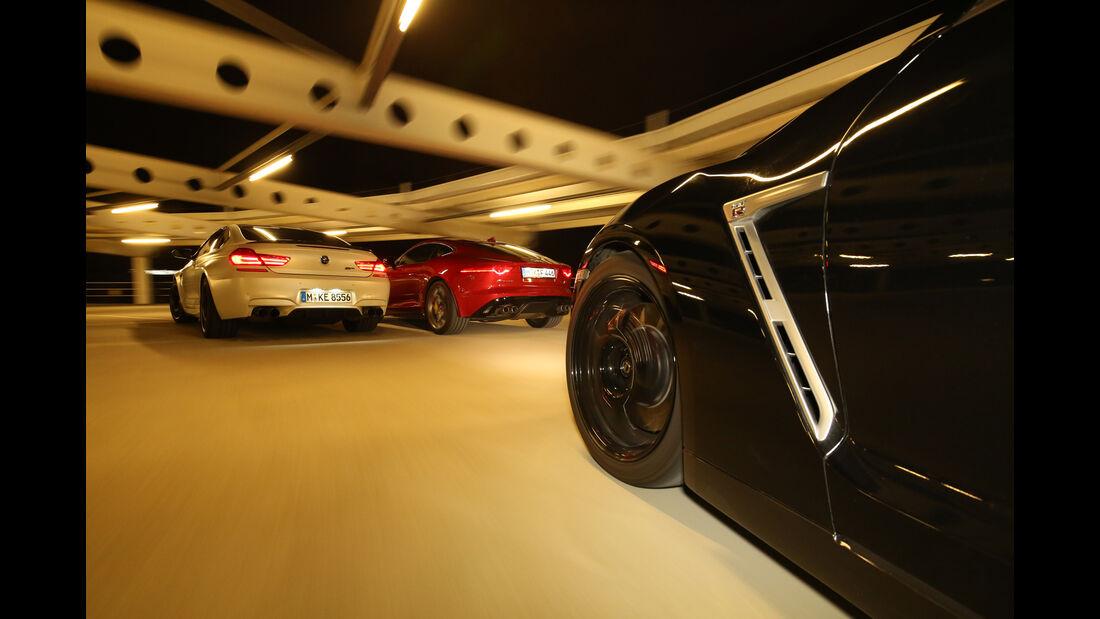 BMW M6 Competition-Paket, Jaguar F-Type R AWD, Nissan GT-R Track Edition