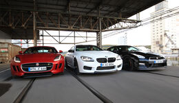 BMW M6 Competition-Paket, Jaguar F-Type R AWD, Nissan GT-R Track Edition
