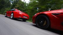 BMW M6 Coupé, Porsche 911 Carrera, Seitenansicht