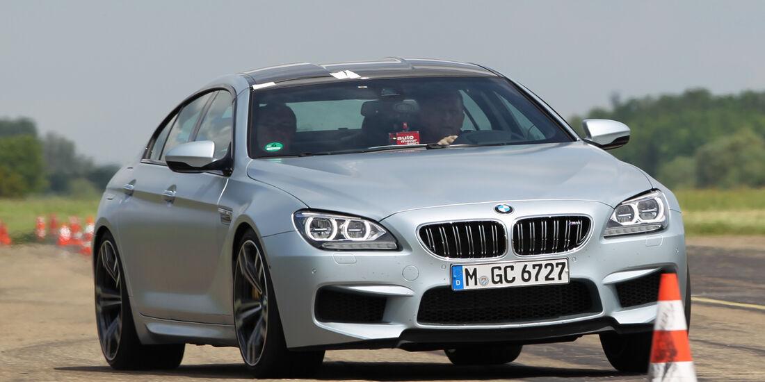 BMW M6 Gran Coupé, Frontansicht, Slalom