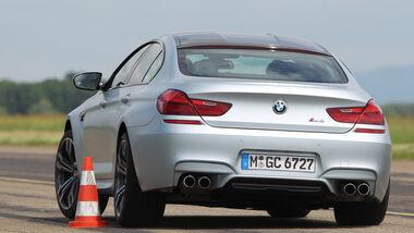 BMW M6 Gran Coupé, Heckansicht, Slalom