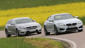 BMW M6 Gran Coupé, Mercedes CLS 63 AMG Shooting Brake, Frontansicht