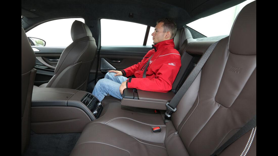 BMW M6 Gran Coupé, Rücksitz, Beinfreiheit