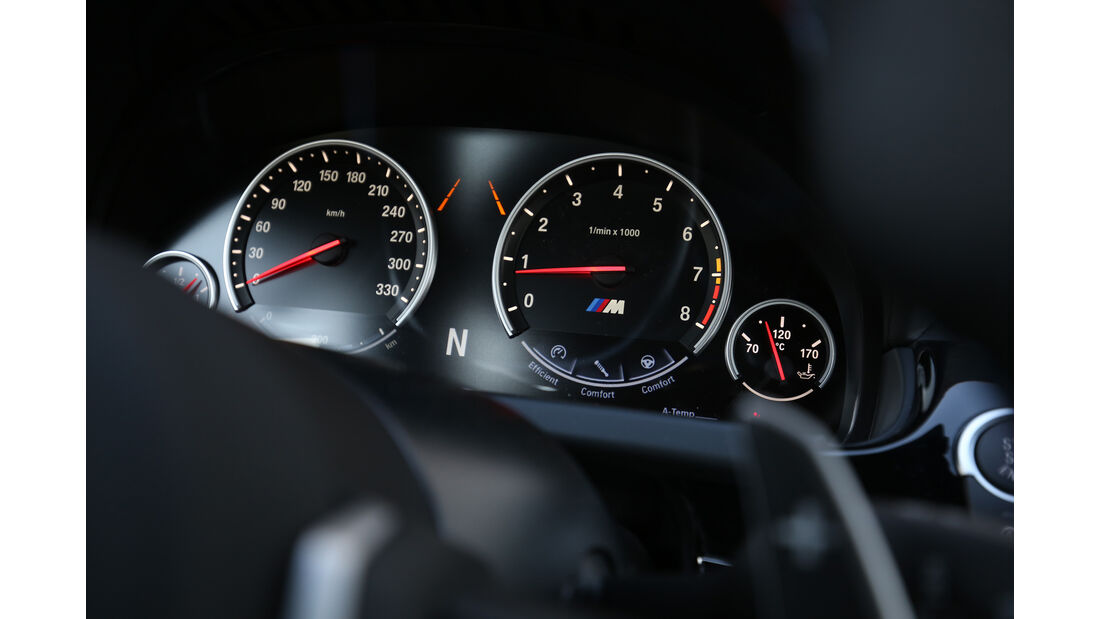 BMW M6 Gran Coupé, Rundinstrumente