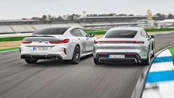 BMW M8 Gran Coupe, Porsche Taycan Turbo, Exterieur