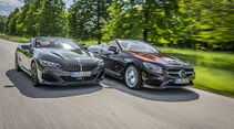 BMW M850i xDrive Cabrio, Mercedes S 560 Cabrio, Exterieur