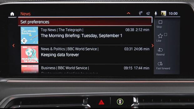 BMW News Connectivity System