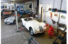 BMW Roadster mit Sonderkarosserie, Garage, Werkstatt