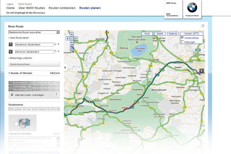 BMW, Routenplaner