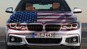 BMW USA Flagge Montage