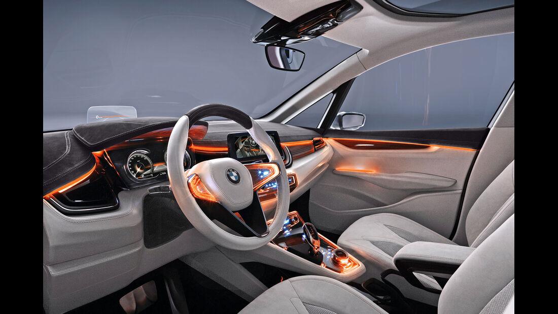 BMW Van, Head-up-Display, Cockpit