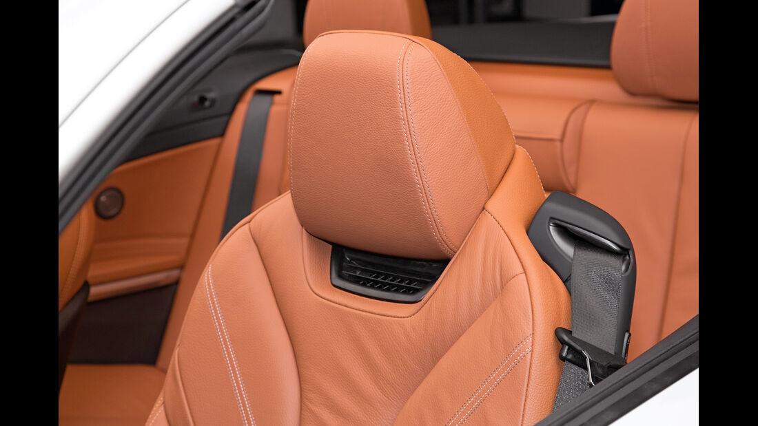 BMW Vierer Cabrio, Kopfstütze, Nackenfön